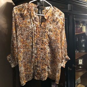 MM Couture by miss me sheer fall floral top S